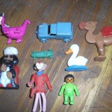 Figuras de Goma y PVC: LOTE FIGURAS GOMA Y COCHES ANTIGUOS PLASTICO PANTERA ROSA Y OTROS. Lote 54297620