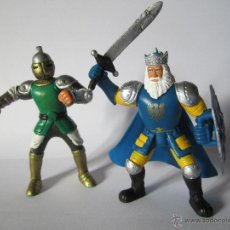 Figuras de Goma y PVC: LOTE 2 FIGURAS CABALLEROS GUERREROS MEDIEVALES SIMBA. Lote 107267071