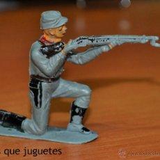 Figuras de Goma y PVC: FIGURA DE UN SOLDADO CONFEDERADO ARRODILLADO DE JECSAN. Lote 54363938