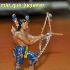 Figuras de Goma y PVC: FIGURA DE UN GUERRERO INDIO DISPARANDO UN ARCO DE JECSAN.. Lote 54364595