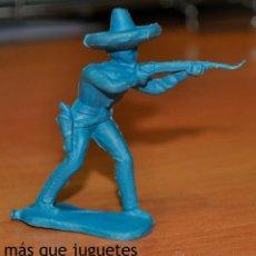 Figuras de Goma y PVC: FIGURA EN PLÁSTICO DE UN MEJICANO DISPARANDO MONOCOLOR. POSIBLEMENTE PIPERO.. Lote 54364966