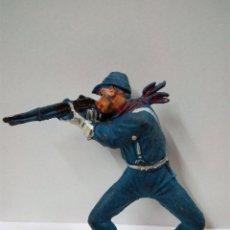 Figuras de Goma y PVC: SOLDADO FEDERAL - YANKEE PARA CABALLO . REALIZADO POR PECH . AÑOS 50 . EN GOMA. Lote 54373693