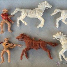 Figuras de Goma y PVC: JECSAN - LOTE VAQUEROS DE PLASTICO - AÑOS 70. Lote 54398476