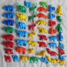Figuras de Goma y PVC: 49 FIGURAS PLÁSTICO DUNKIN ANIMALES. Lote 54410729