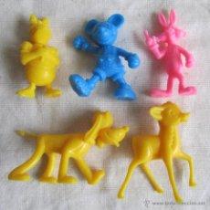 Figuras de Goma y PVC: 5 FIGURAS PLÁSTICO DUNKIN DISNEY. Lote 54410746