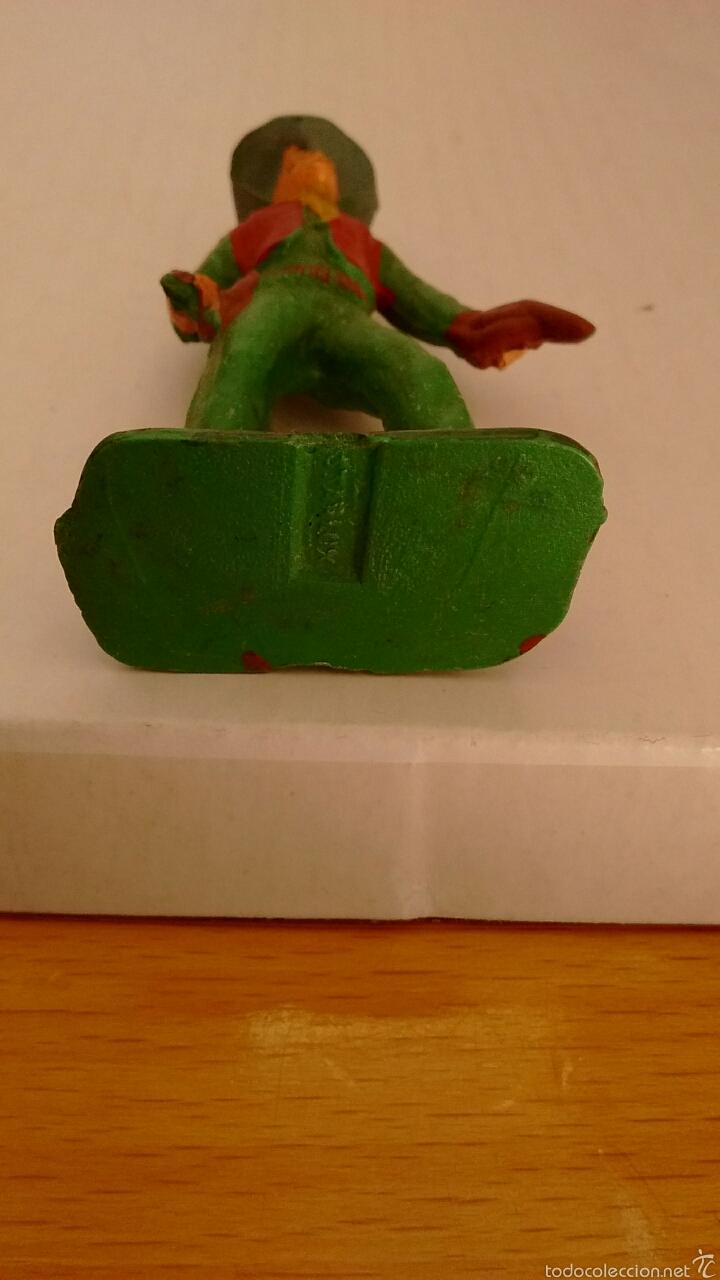 Figuras de Goma y PVC: Antigua Figura del Oeste Vaquero. Starlux - Foto 4 - 54427610