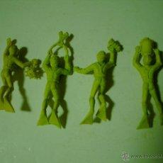 Figuras de Goma y PVC: LOTE DE HOMBRES RANA.BUZOS JECSAN EN PLASTICO. Lote 103315427