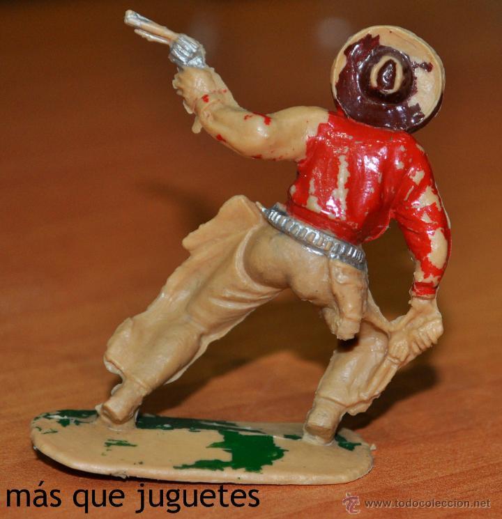 Figuras de Goma y PVC: FIGURA DE UN VAQUERO O COWBOY MEDIO CAIDO DE REAMSA. - Foto 2 - 54521165