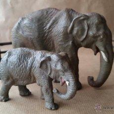Figuras de Goma y PVC: ELEFANTE INDIO CON CRIA PFEIFFER 1920/30 ZOO PERFECTAS PARA ARCLA. Lote 54547674