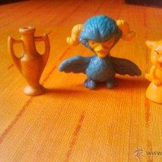 Figuras de Goma y PVC: LOTE DE 3 FIGURAS DE PLÁSTICO DURO.. Lote 54593602