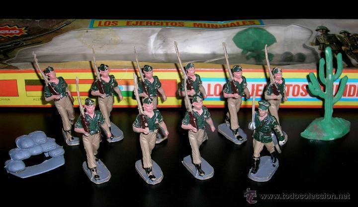CONJUNTO DESFILE LEGIÓN LEGIONARIOS EJÉRCITO ESPAÑOL, PLÁSTICO, PECH, ORIGINAL AÑOS 60. CON CAJA. (Juguetes - Figuras de Goma y Pvc - Pech)
