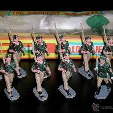Figuras de Goma y PVC: CONJUNTO DESFILE LEGIÓN LEGIONARIOS EJÉRCITO ESPAÑOL, PLÁSTICO, PECH, ORIGINAL AÑOS 60. CON CAJA.. Lote 54595259