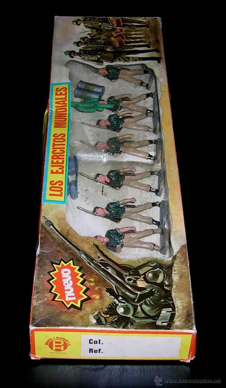 Figuras de Goma y PVC: Conjunto desfile Legión Legionarios Ejército Español, plástico, Pech, original años 60. Con caja. - Foto 2 - 54595259