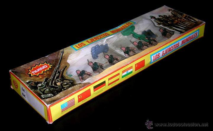 Figuras de Goma y PVC: Conjunto desfile Legión Legionarios Ejército Español, plástico, Pech, original años 60. Con caja. - Foto 4 - 54595259