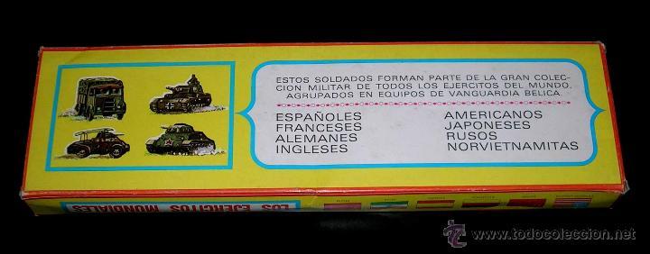 Figuras de Goma y PVC: Conjunto desfile Legión Legionarios Ejército Español, plástico, Pech, original años 60. Con caja. - Foto 5 - 54595259