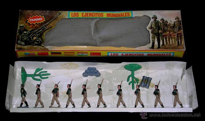 Figuras de Goma y PVC: Conjunto desfile Legión Legionarios Ejército Español, plástico, Pech, original años 60. Con caja. - Foto 6 - 54595259