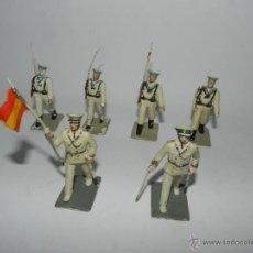 Gummi- und PVC-Figuren - 6 figuras de Marina de Guerra. Plastico Pintado Gomarsa, Reamsa ,Soldis 1960-70s, tal y como se ve e - 54630855