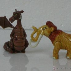 Figuras Kinder: FIGURAS DE HUEVO KINDER (MAMUT + DRAGON (SOLO UNA ALA) *** 2 UNIDADES ***. Lote 54665989
