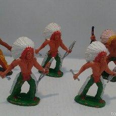 Figuras de Goma y PVC: LOTE DE 5 FIGURAS ANTIGUAS DEL OESTE DE MANUEL SOTORRES. AÑOS 70. ( OFERTA ). Lote 54704448