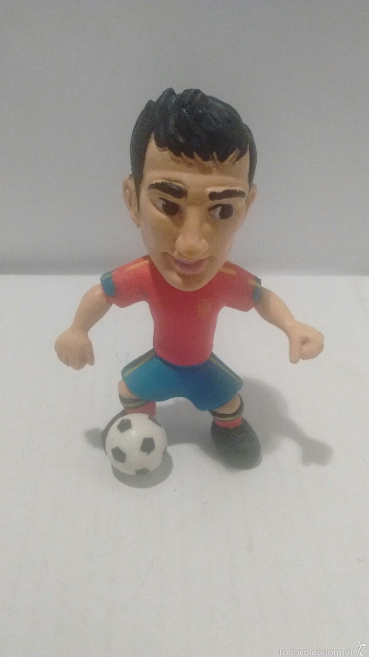 Figuras de Goma y PVC: Figura de Cesc Fábregas con Equipacion de la Selección Española. Made in Spain. - Foto 2 - 54725125