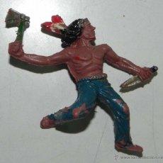 Figuras de Goma y PVC: FIGURA DE INDIO LAFREDO, PLASTICO, TAL COMO SE VE, BUEN ESTADO DE CONSERVACION.. Lote 54740582