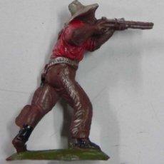 Figuras de Goma y PVC: FIGURA DE COWBOY DEL OESTE DE GOMA, DE LAFREDO, TAL COMO SE VE EN LAS FOTOS PUESTAS.. Lote 54760143