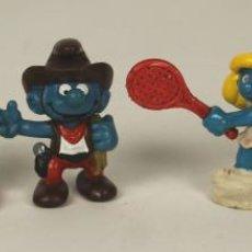 Figuras de Goma y PVC: COLECCION DE 5 PITUFOS EN PVC. WEST GERMANY. PEYO. SCHLEICH. 1980/1981.. Lote 51060131