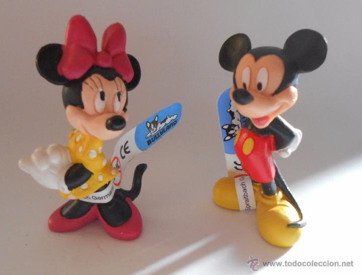 MINNIE Y MICKEY FIGURAS DE GOMA BULLY (Juguetes - Figuras de Goma y Pvc - Bully)