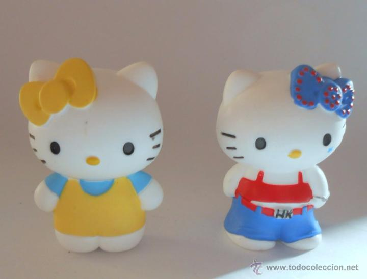 HELLO KITTY 2 FIGURAS DE GOMA BULLY (Juguetes - Figuras de Goma y Pvc - Bully)