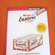 Figuras Kinder: HOJA PLASTICO DESCUENTO KINDER BUENO WHITE. Lote 79077989