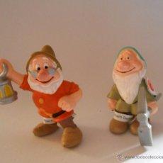 Figuras de Goma y PVC: DORMILON Y SABIO ENANITOS DE BLANCANIEVES FIGURA DE GOMA BULLY. Lote 54836804