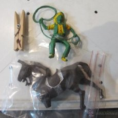 Figuras de Goma y PVC: FIGURA PLASTICO VAQUERO REIGON GRANDE. Lote 54864693