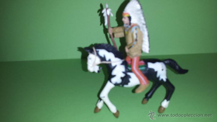 Figuras de Goma y PVC: COMANSI JEFE INDIO A CABALLO - Foto 2 - 54874798