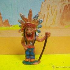 Figuras de Goma y PVC: FIGURA INDIO BOYBIS DE JECSAN - SERIE HUMORISTICOS JECSAN. Lote 54889448