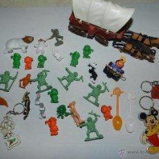 Figuras de Goma y PVC: (M) LOTE DE FIGURAS DUNKIN, TORTUGAS NINJA , LLAVEROS, ETC ETC. Lote 54909293