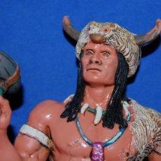 Figuras de Goma y PVC: FIGURA DE GOMA INDIO AMERICANO COMANCHE. Lote 55012111