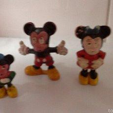 Figuras de Goma y PVC: FIGURAS PECH DISNEY AÑOS 50 MICKEY, FAMILIA COMPLETA. Lote 55152415