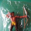 Figuras de Goma y PVC: ELASTOLIN SERIE WESTER 7 CTMS INDIO CON ARCO AÑOS 70 EN BOLSA . Lote 55170007