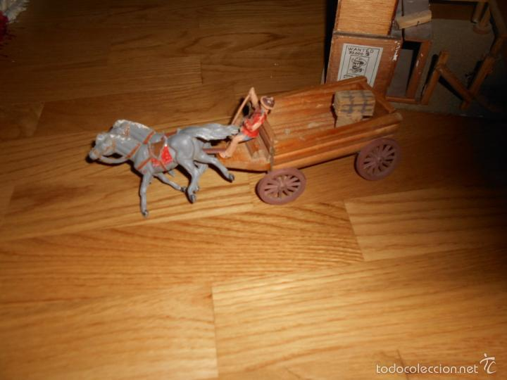 Figuras de Goma y PVC: POSIBLE JUGUETES BENITO GENERAL STORE CARRETA MADERA 60` 70` PARA figuras GOMA Jecsan Pech Reamsa - Foto 10 - 55242995