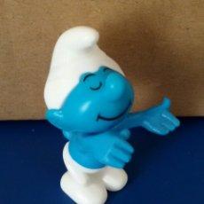 Figuras de Goma y PVC: FIGURA PLASTICO DESMONTABLE PITUFO. Lote 55390792