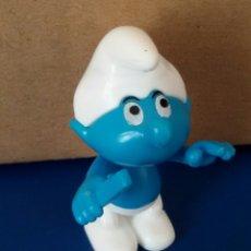 Figuras de Goma y PVC: FIGURA PLASTICO DESMONTABLE PITUFO. Lote 55390846