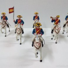 Figuras de Goma y PVC: DESFILE DE LA GUARDIA CIVIL A CABALLO CON UNIFORME DE GALA . DESFILE SOLDIS.. Lote 55569270