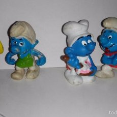Figuras de Goma y PVC: PITUFO-PITUFOS - SCHLUMPF - LOTE - PITUFA -PITUFINA- COCINERO -PEYO. Lote 55753345