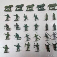 Figuras de Goma y PVC: LOTE DE SOLDADITOS MONTAPLEX . VAQUEROS - INDIOS. Lote 55858811