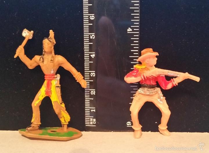 GOM-1342_INDIO Y COWBOY MINIOESTE COMANSI (Juguetes - Figuras de Goma y Pvc - Comansi y Novolinea)