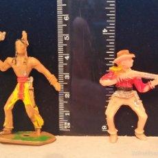 Figuras de Goma y PVC: GOM-1342_INDIO Y COWBOY MINIOESTE COMANSI. Lote 55860749