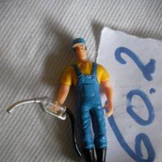 Figuras de Goma y PVC: TRABAJADOR GASOLINERA - ENVIO GRATIS A ESPAÑA. Lote 55927470