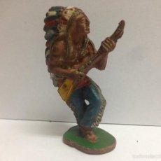 Figuras de Goma y PVC: FIGURA JEFE INDIO FABRICADO EN GOMA POR LAFREDO MIDE 6 CMTS. Lote 56044601