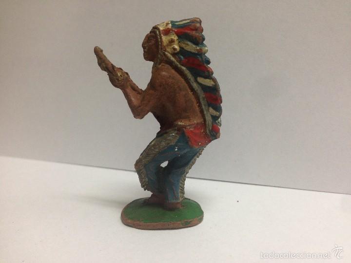 Figuras de Goma y PVC: FIGURA JEFE INDIO FABRICADO EN GOMA POR LAFREDO MIDE 6 CMTS - Foto 2 - 56044601