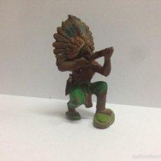 Figuras de Goma y PVC: FIGURA JEFE INDIO FABRICADO EN GOMA POR PECH HERMANOS MIDE 6 CMTS. Lote 56044618